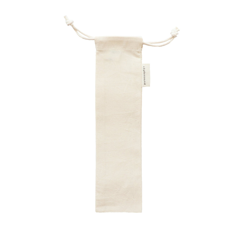 Organic cotton straw pouch