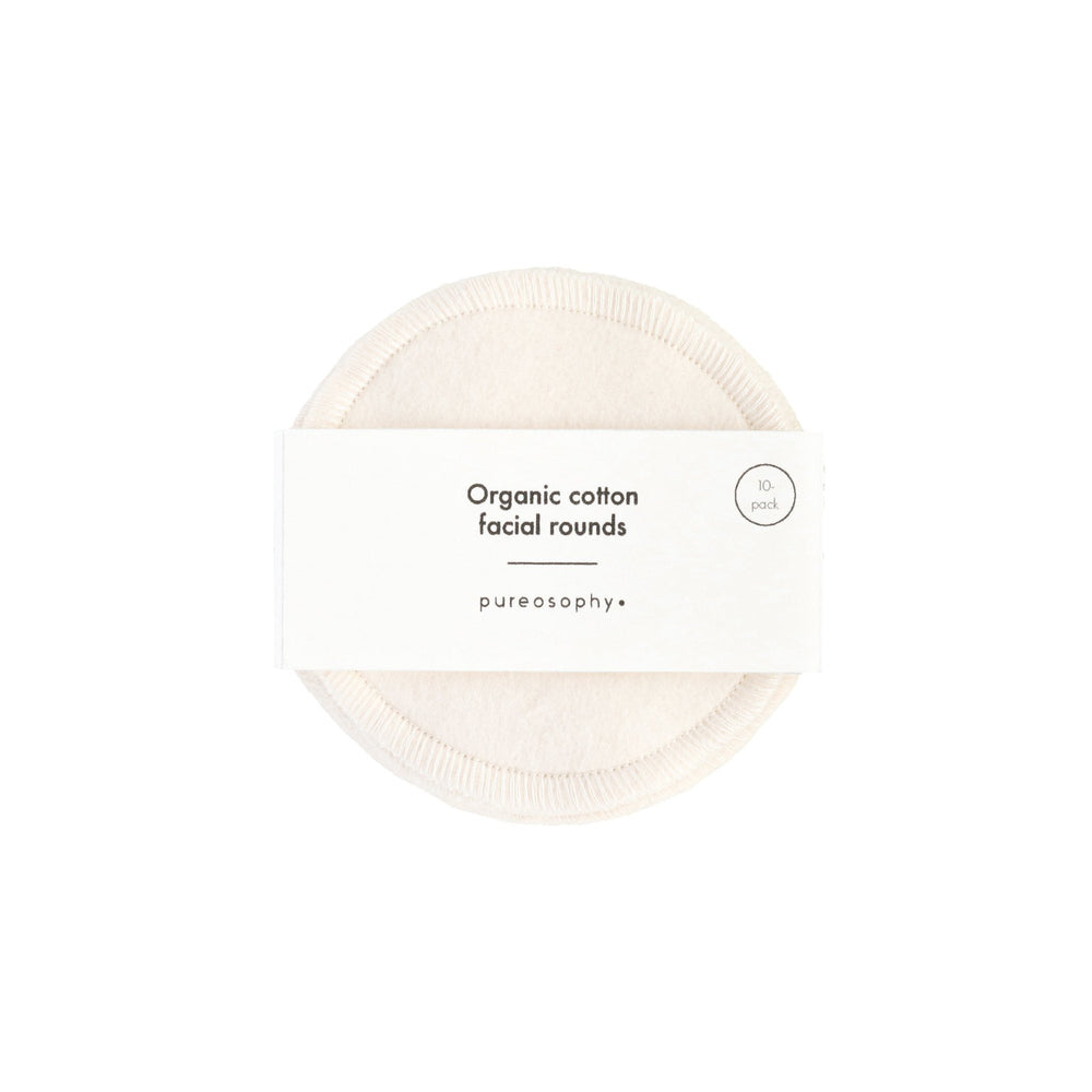 Organic cotton facial rounds // 10 pcs - pureosophy