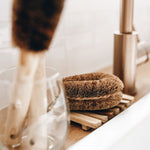 Coconut scrubber brush