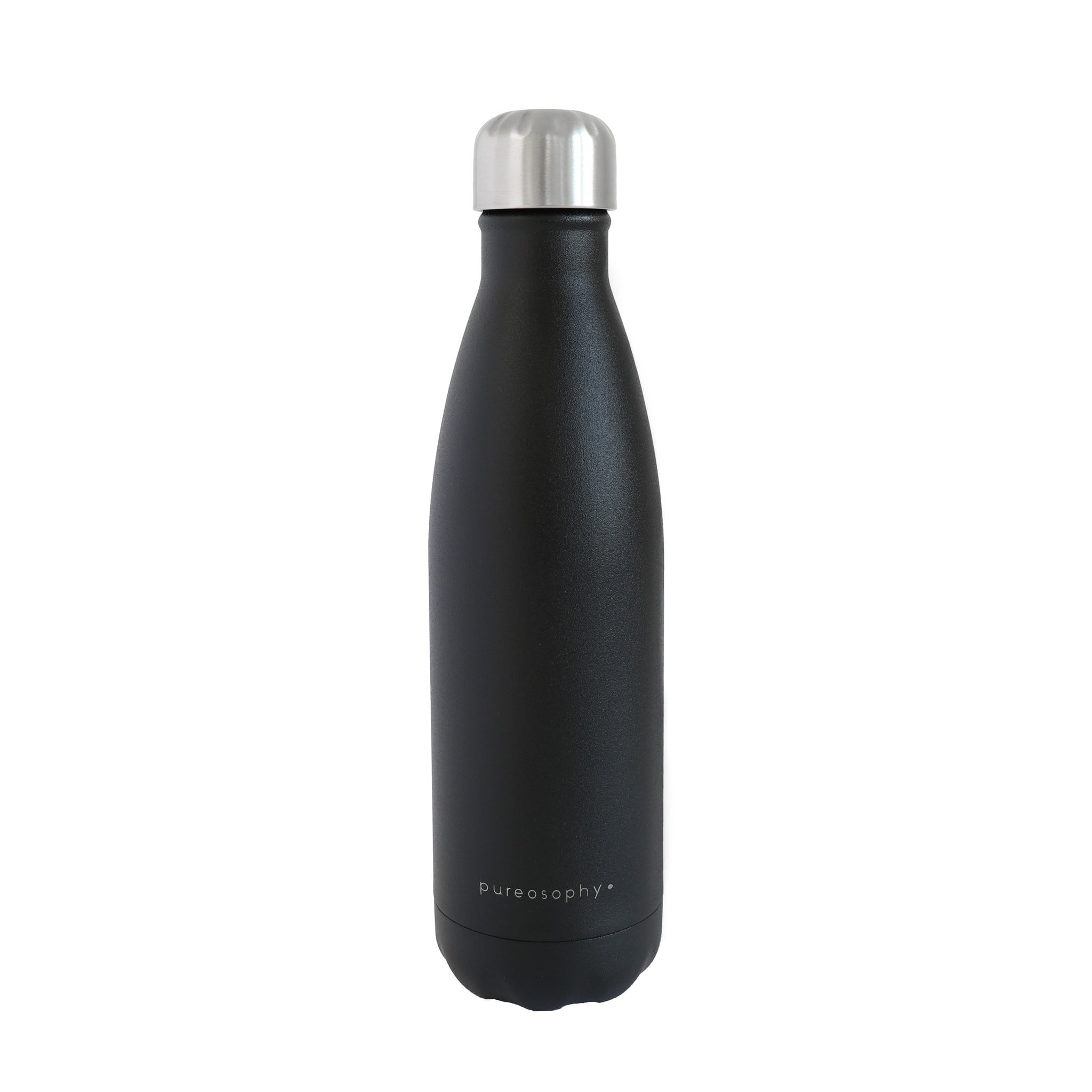 Vacuum insulated stainless steel bottle in black 500 ml