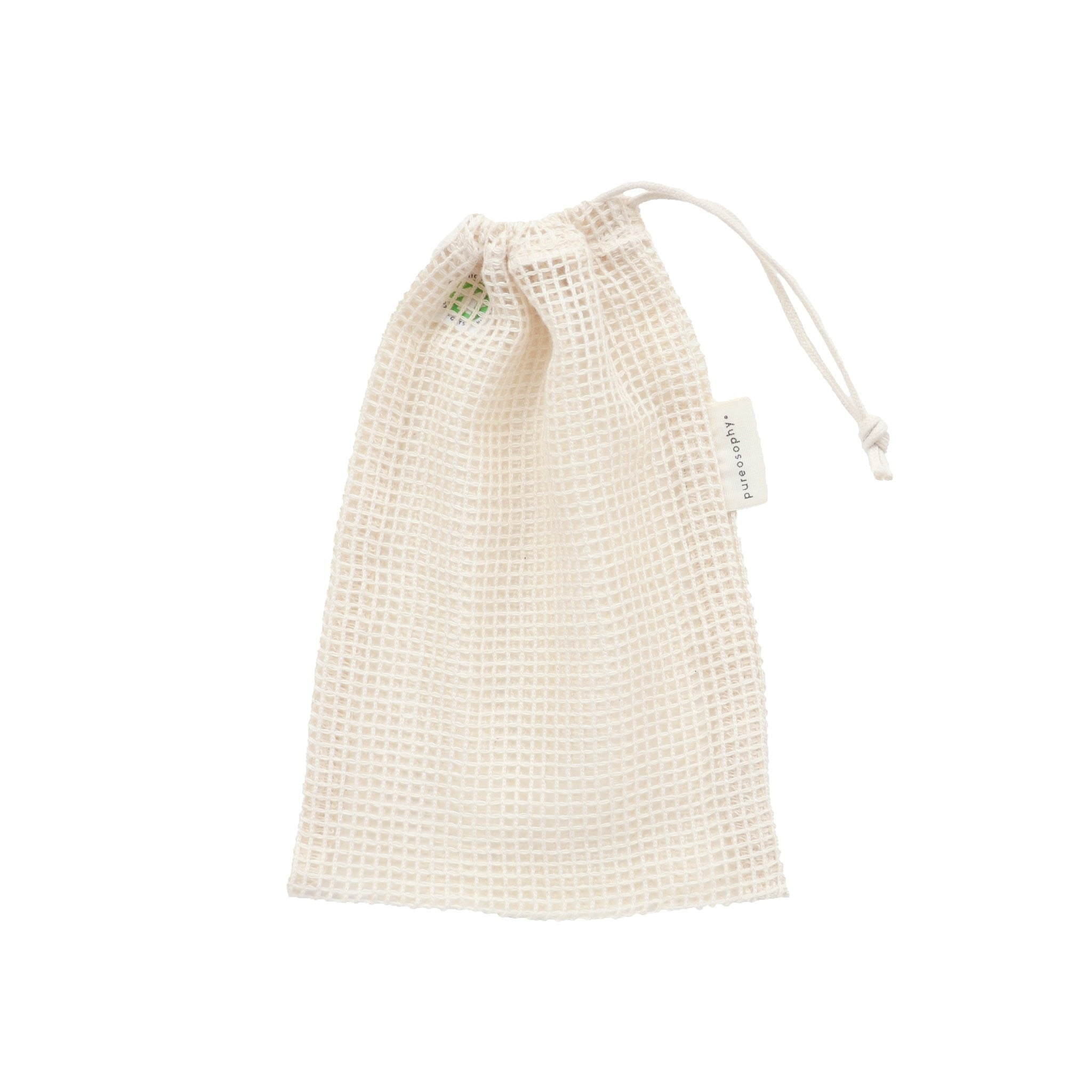Small organic cotton mesh produce bag