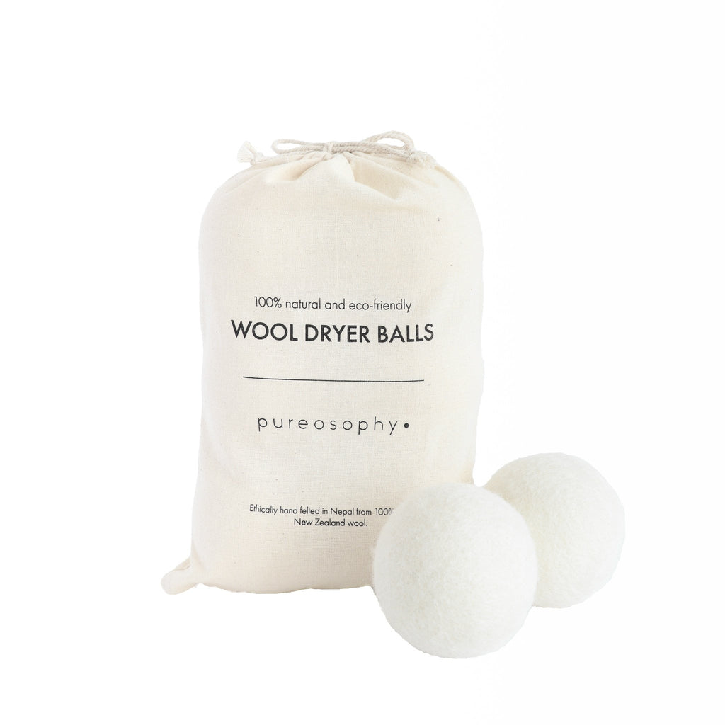 Wool dryer balls are an eco friendly alternative to dryer sheets