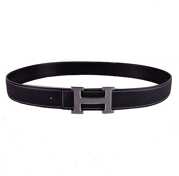Heermes Calf Leather H belt Wmns Uni silver/black