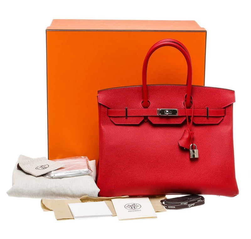 Heermes Birkin 35 Bag Rouge Casaque Epsom