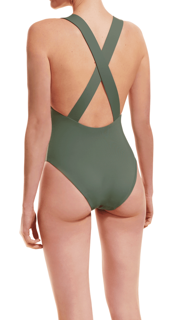 Cross back bathing suit