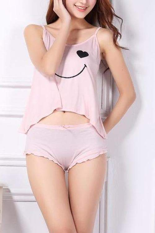 Sleepwear Sets Adjustable Straps
