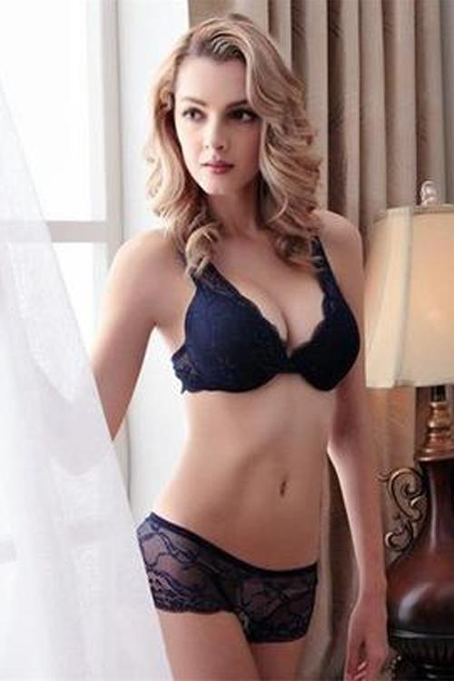 Navy Lace Bra and Panty Set