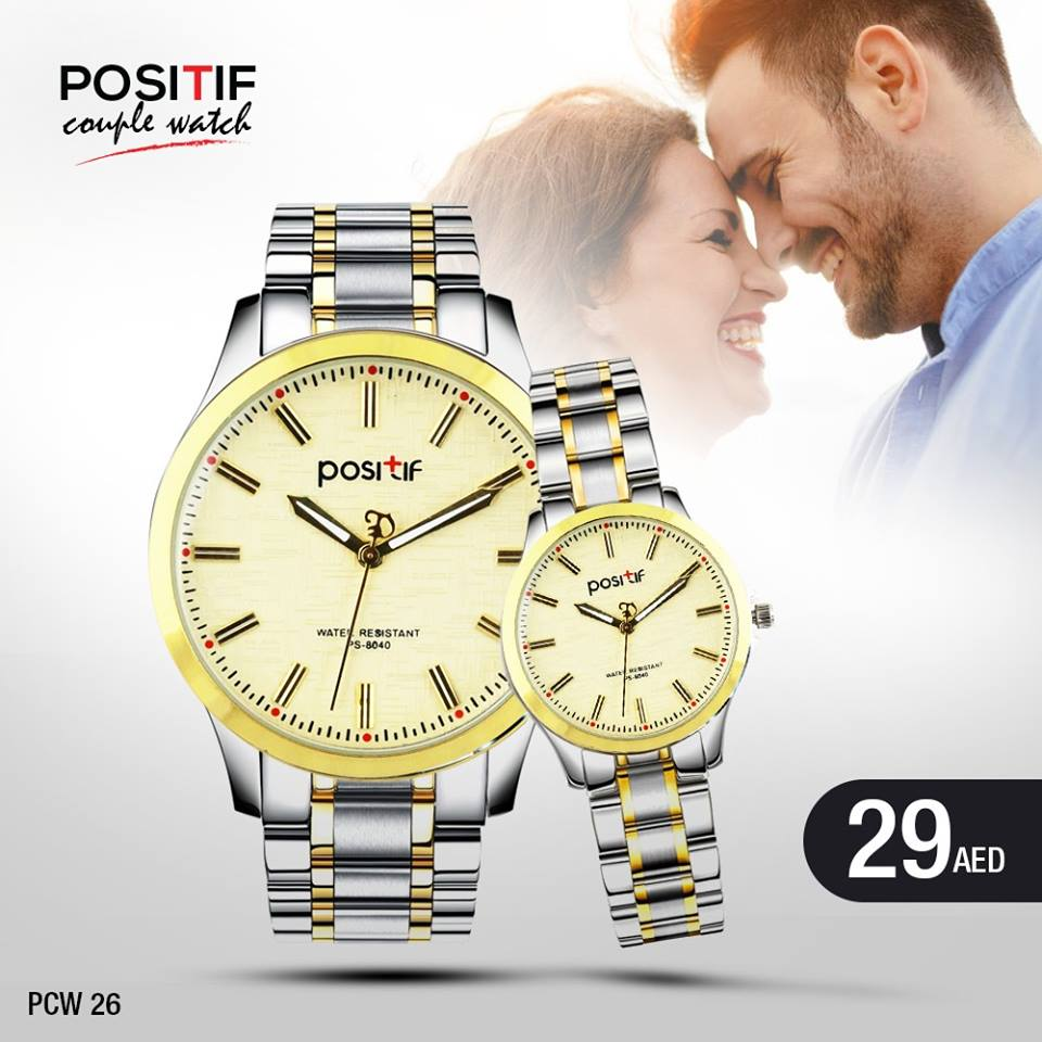 Positif Quartz Couple Watches