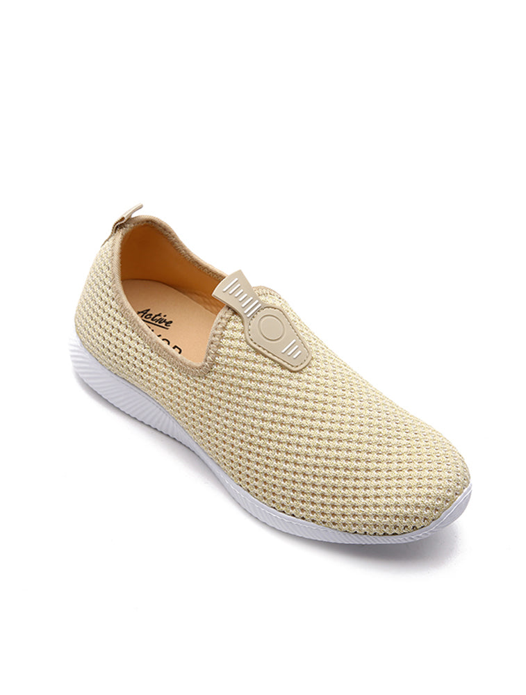 Beige Mesh Breathable Shoe
