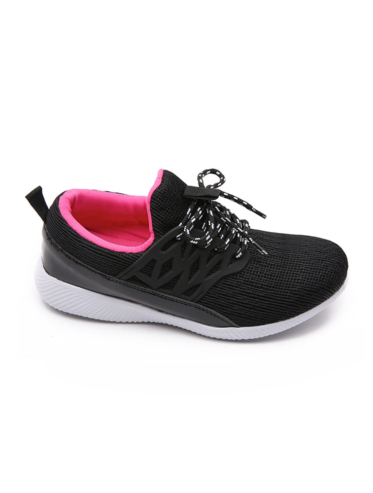Black Flexible Sports Shoe