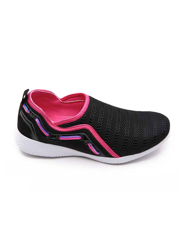 Fyor Rainbow String Black Mesh Shoe