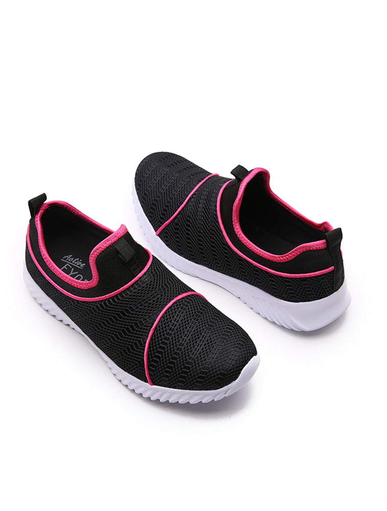 Black Breathable Mesh Sports Shoe