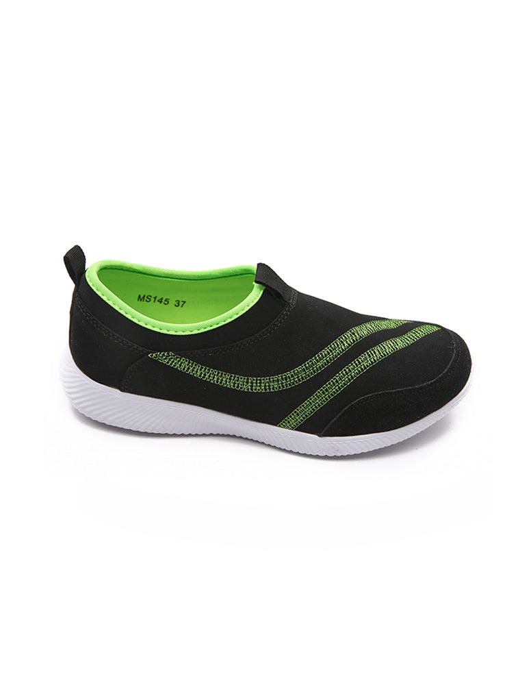 Dark Black S Shape Sports Shoe