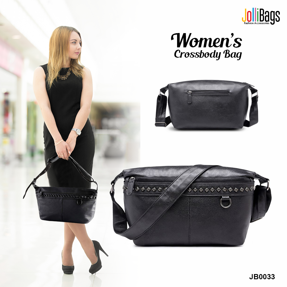 Black Coated Zipper Bag