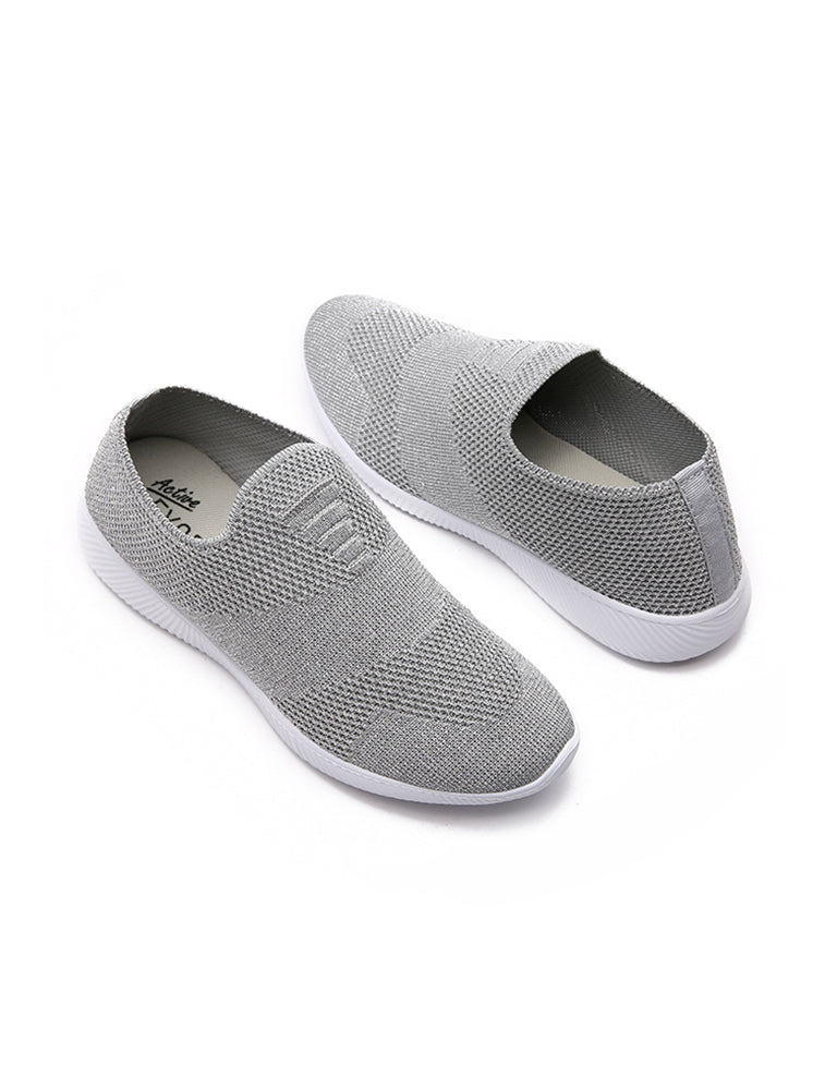 Grey Breathable Casual Shoes
