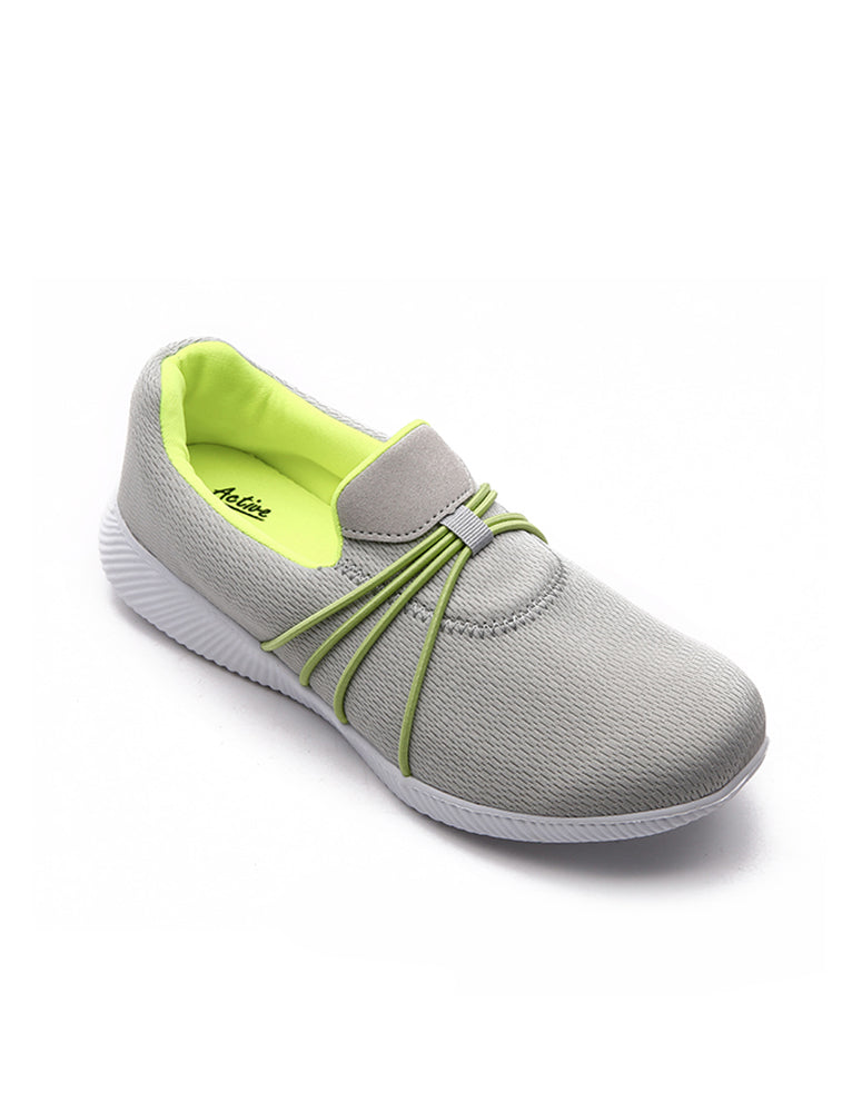 Grey Strap on Casual Shoe