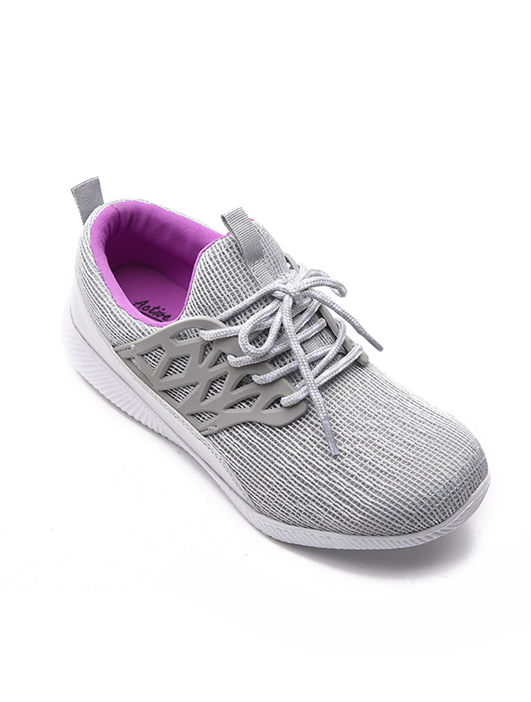 Grey  Flexible Sports Shoe