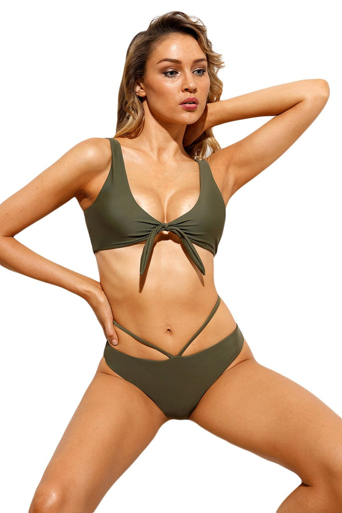 Brazilian Tied Push Up Swimsuit - MondayBloom.com