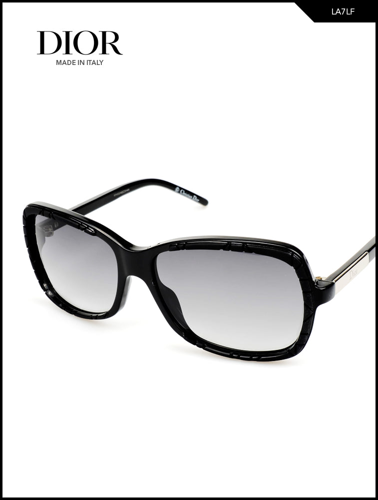Dior Hit Black Rectangular Sunglasses