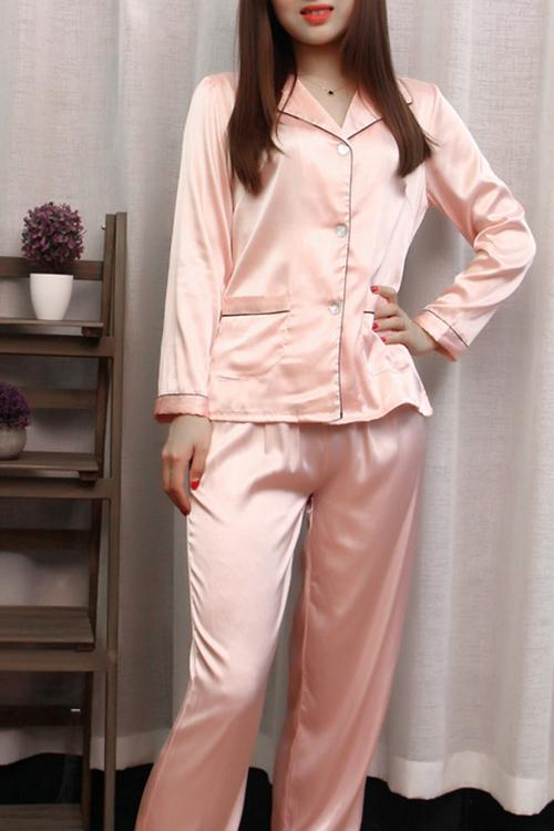 Catalina Satin Cotton Candy Pajama Set