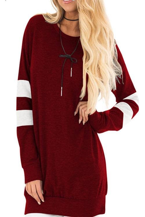 MVP Cool Stripe Post Workout Cover up - Maroon