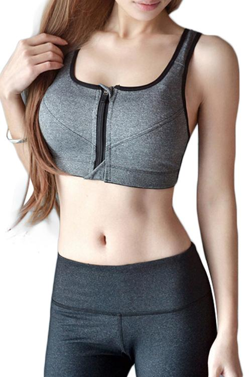 Signature Zip Sports Bra