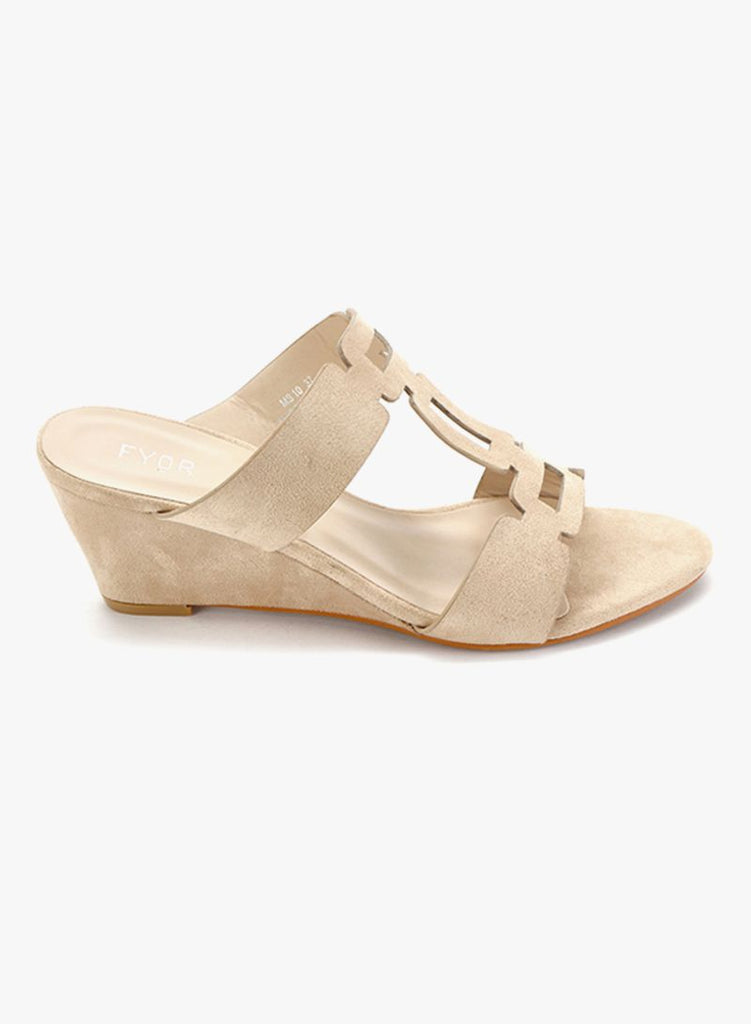 Nude Slip-On Wedge Sandal