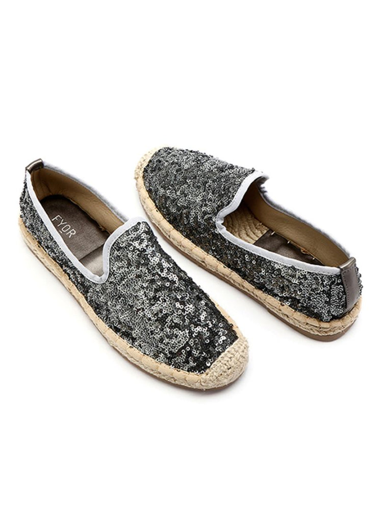 Highly Sequined Grey Slip On