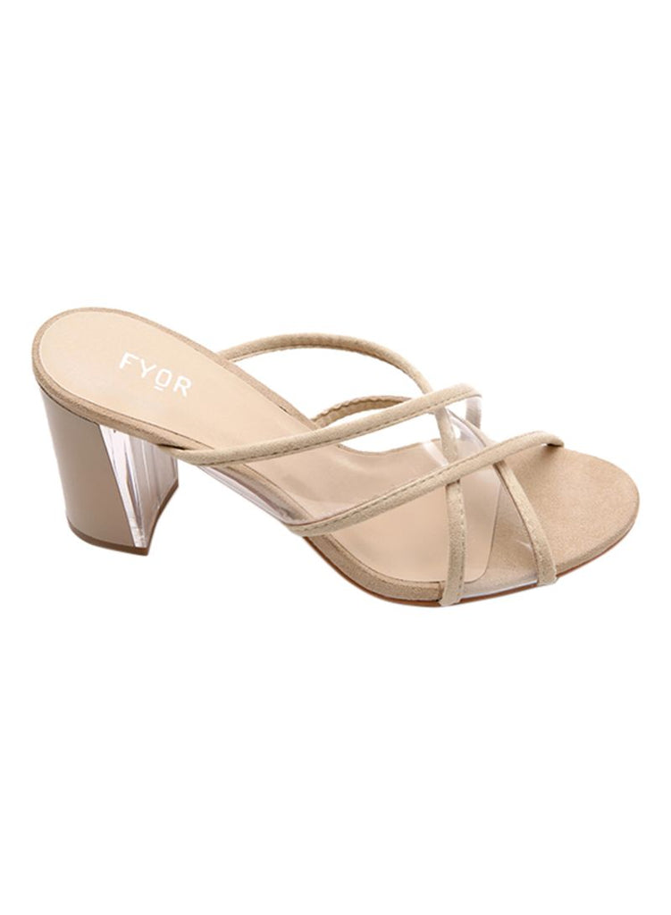 Transparent Straps Beige Sandals