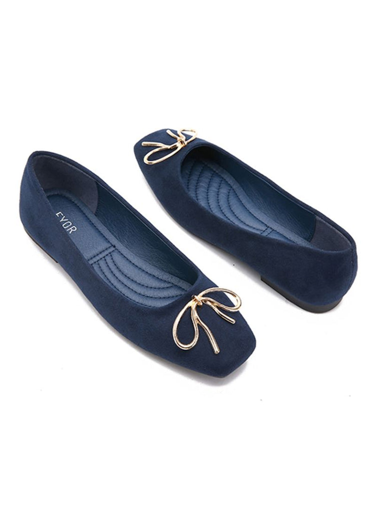 Navy Doll Ballerinas