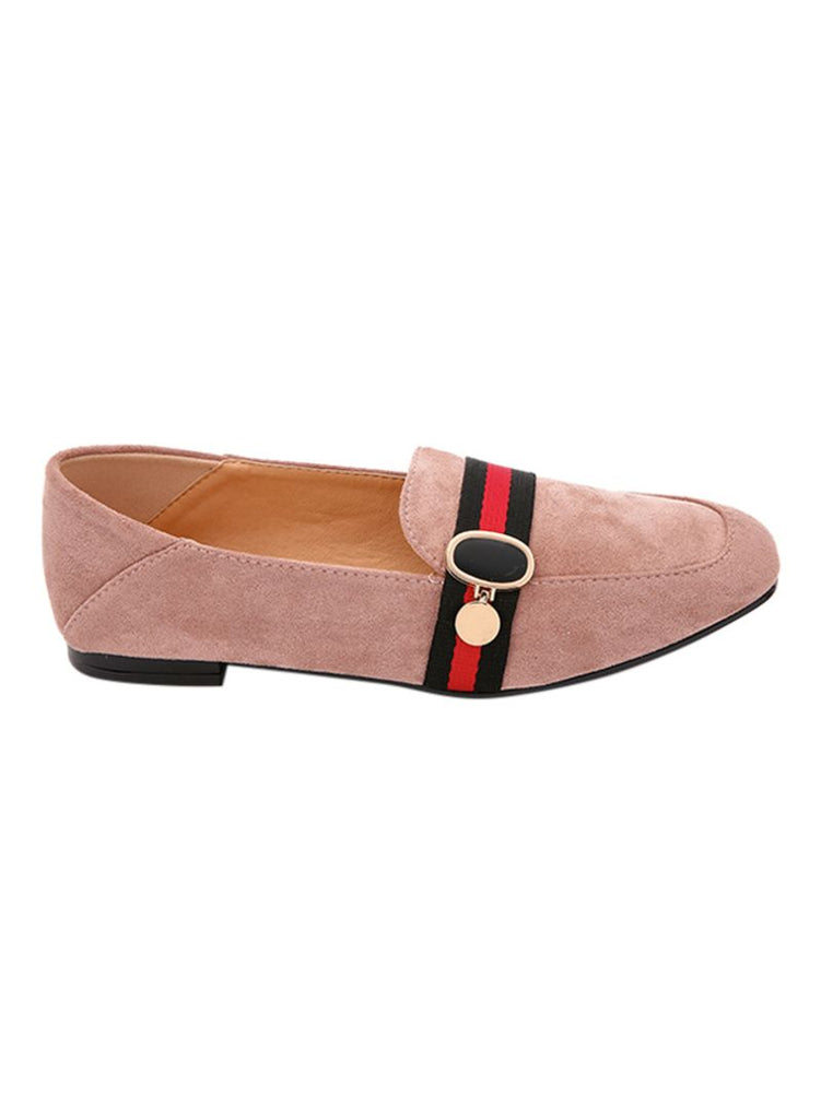 Pink Moccasin Slip On
