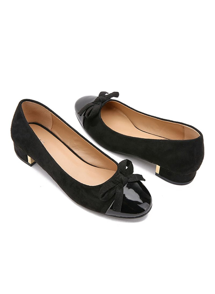Bow Design Black  Ballerinas