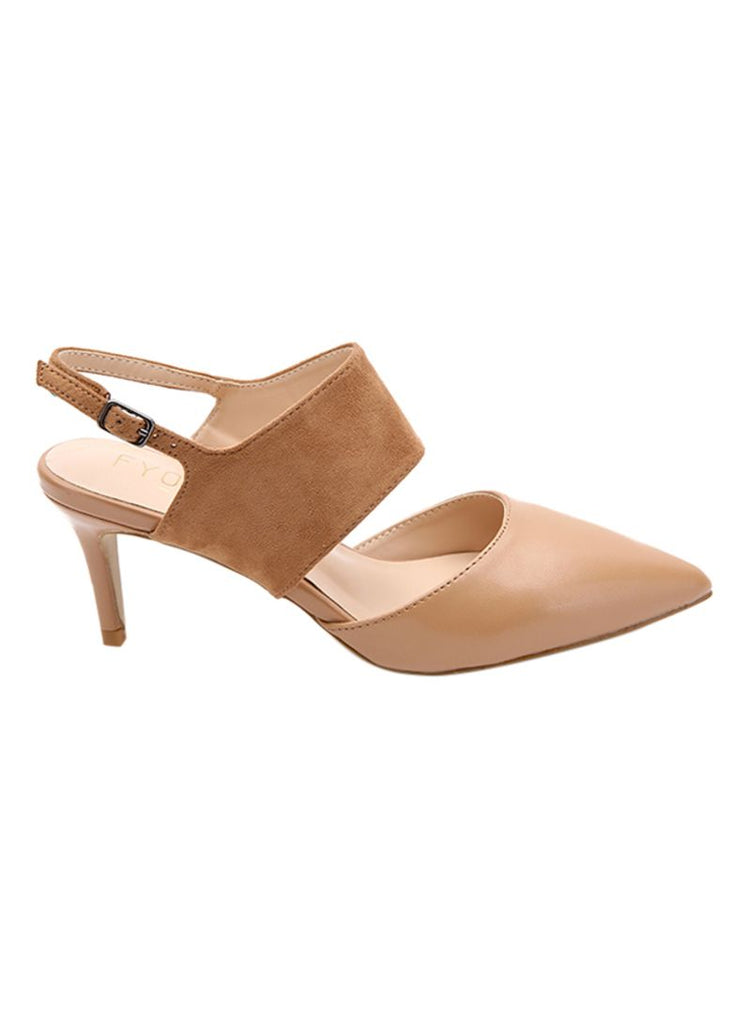 Camel Pointed Pumps