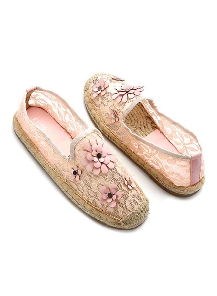 Fyor Espadrille Light Pink Slip On