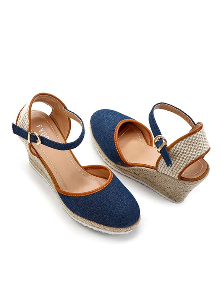 Denim & Jute Wedge
