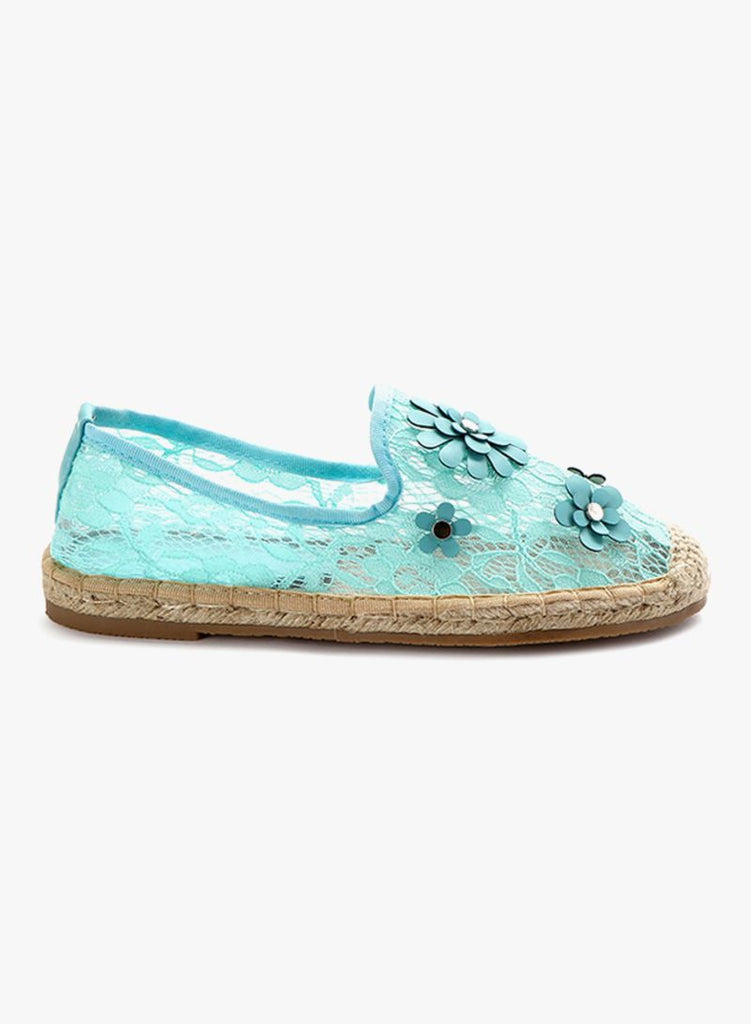 Fyor Espadrille Light Blue Slip On