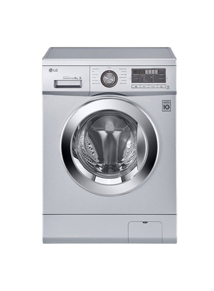 LG Front Loading Washing Machine 8Kg F1496ADP24 Silver