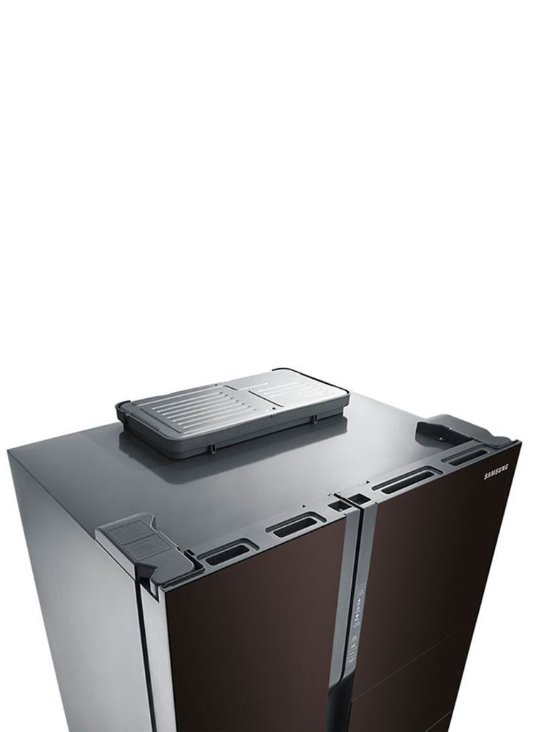 Samsung Side By Side Refrigerator 680L RS554NRUA9M/AE Black/Wine