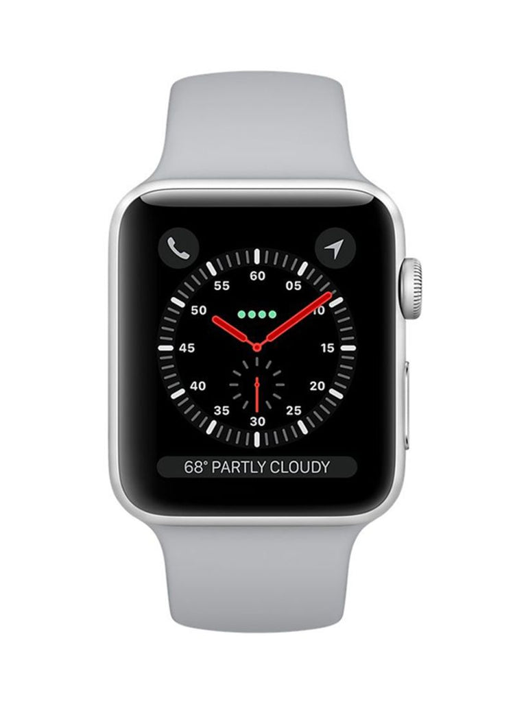 Apple Watch Series 3 Silver Aluminium Case with Fog Sport Band