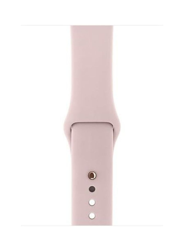 Apple Watch Series 3 Gold Aluminum Case With Pink Band