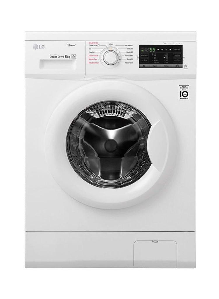 LG Front Load Washing Machine 8Kg FH4G7TDYO White