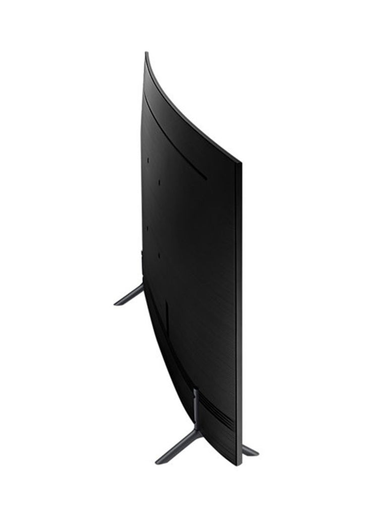 55-Inch Curved LED 4K UHD TV UA55NU7300 Black