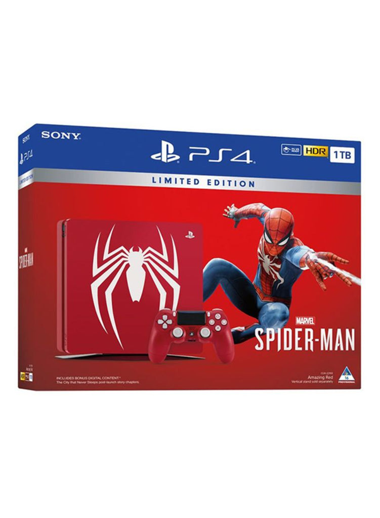 PlayStation 4 Slim 1TB Console With Limited Edition Marvel's Spider-Man