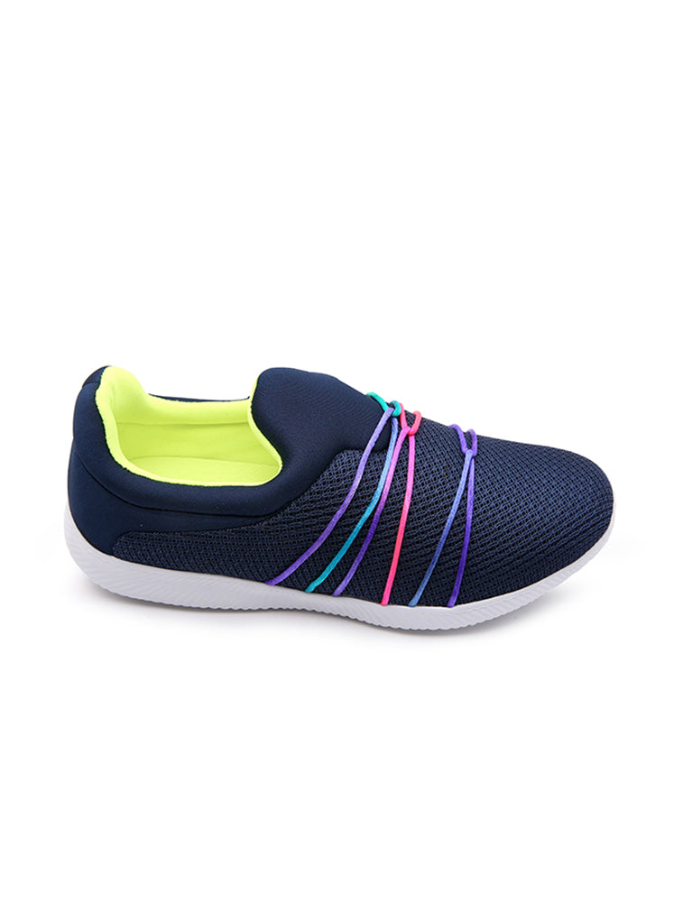 Fyor Rainbow String Tie Navy  Shoe
