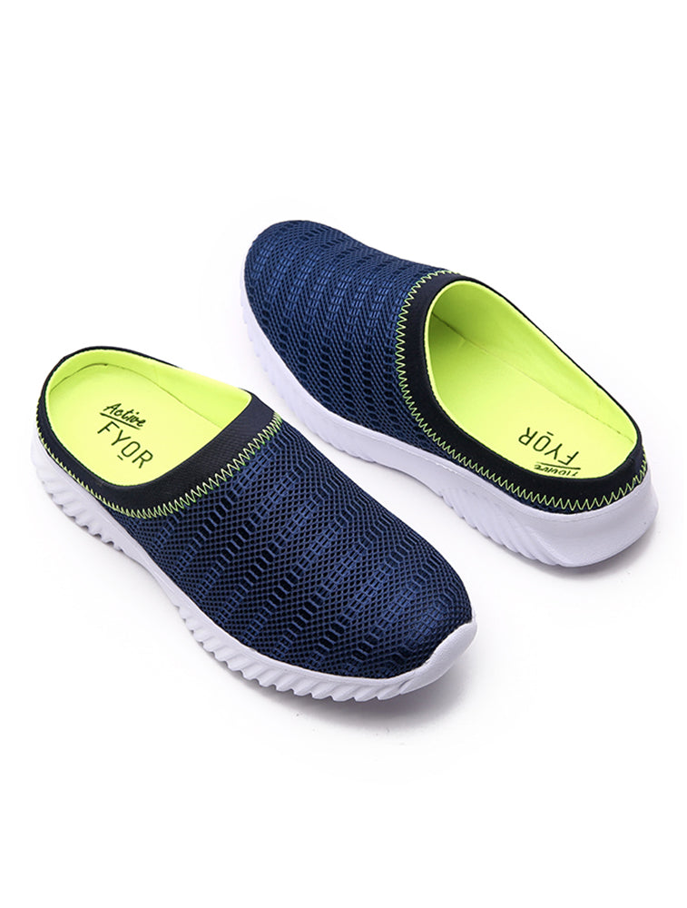 Fine Stitched Navy Slip On