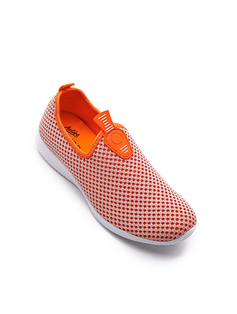 Orange Mesh Breathable Shoe