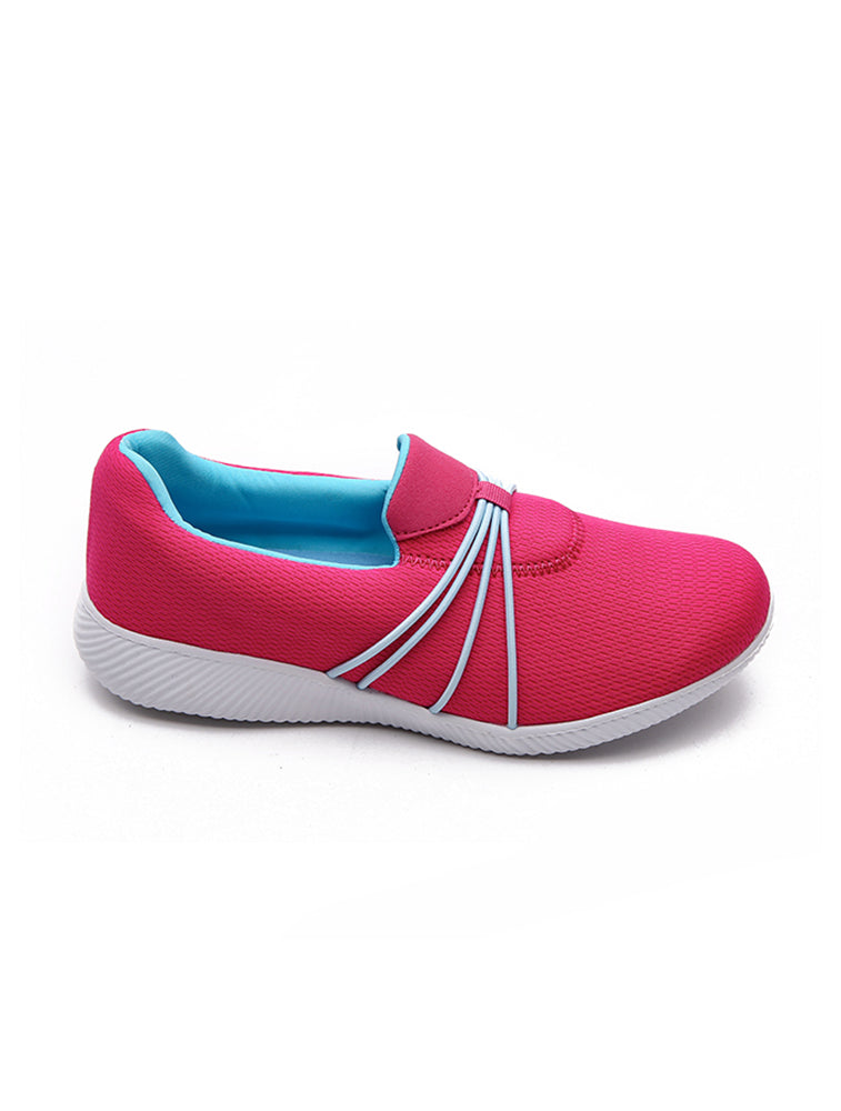 Pink Strap on Casual Shoe