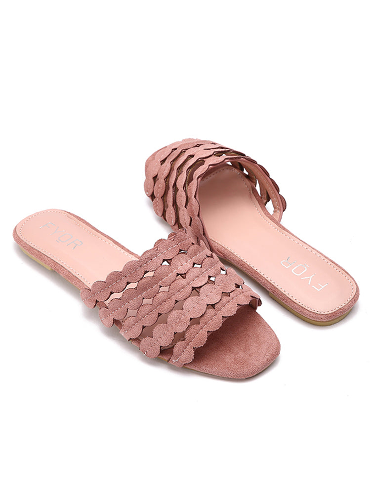 Pink Suede Finely Crafted Flats