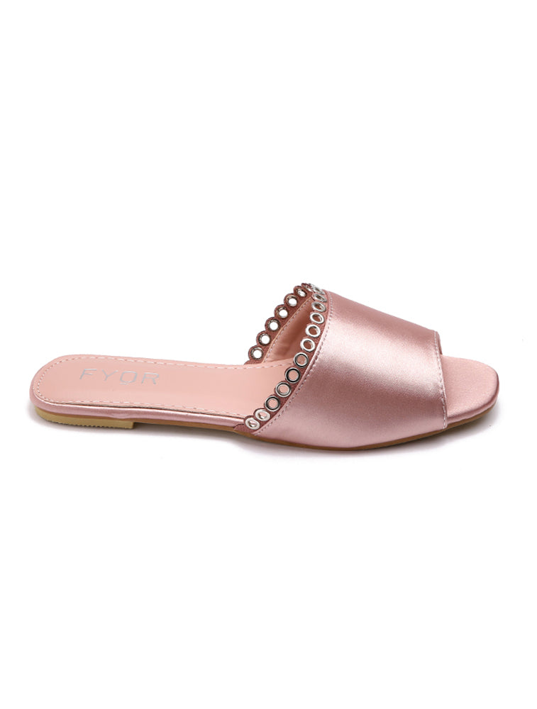 Pink Shinny Mini Loops Flats
