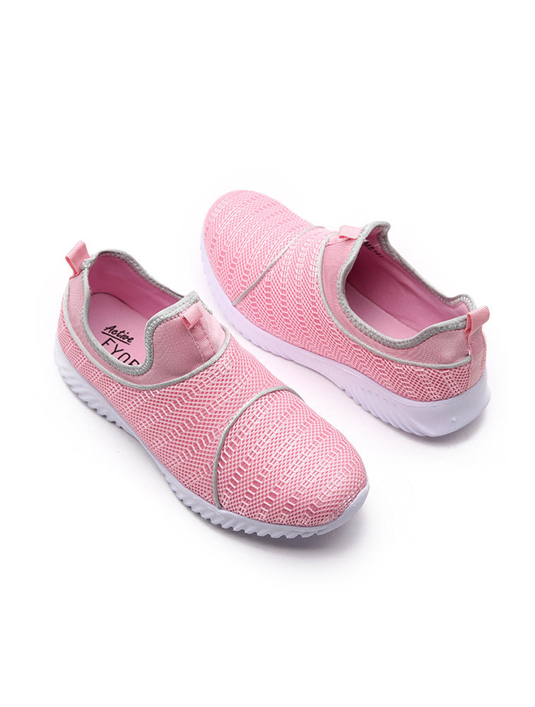 Pink Breathable Mesh Sports Shoe